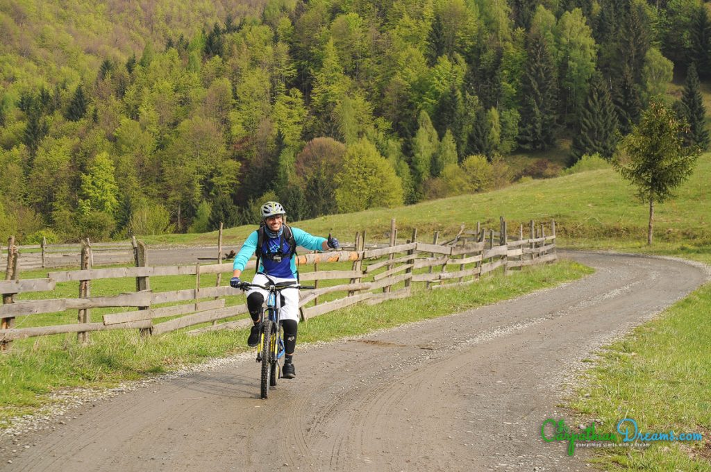 Enduro mountainbike ride in the Carpathians