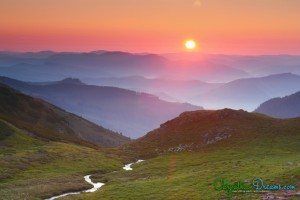 8. Sunrise in the Carpathians