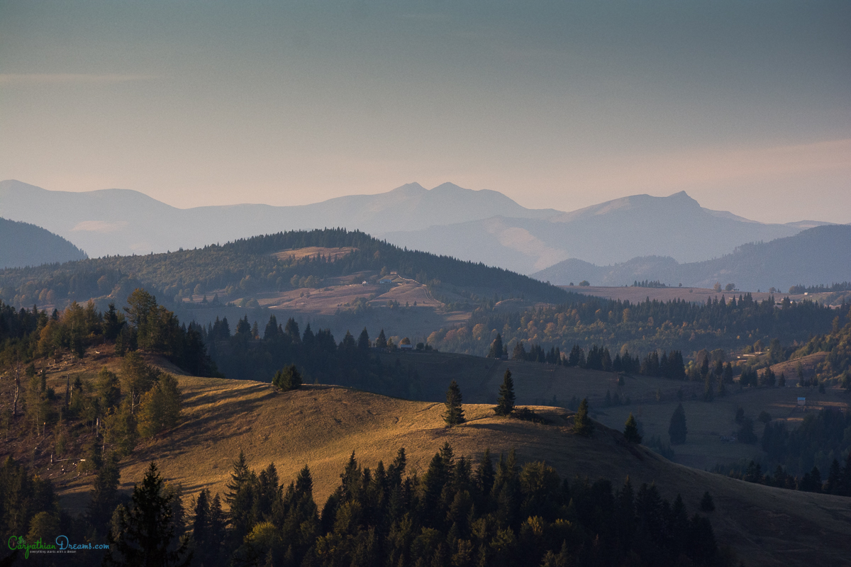 October view over the Carpathians