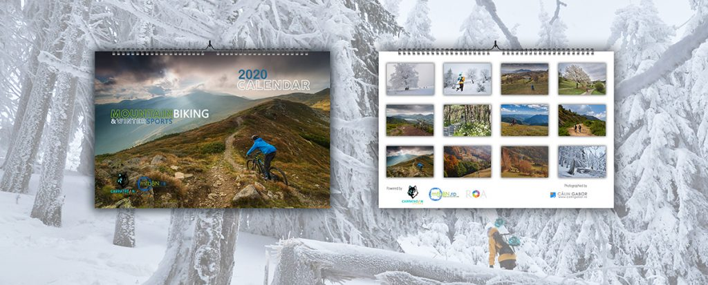 2020 mountain biking wall calendar